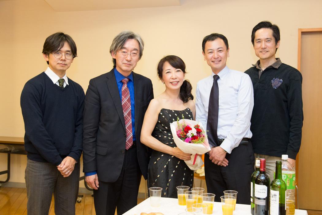 ピティナ福田さん、後藤さん、今村さん、實方さん、と私